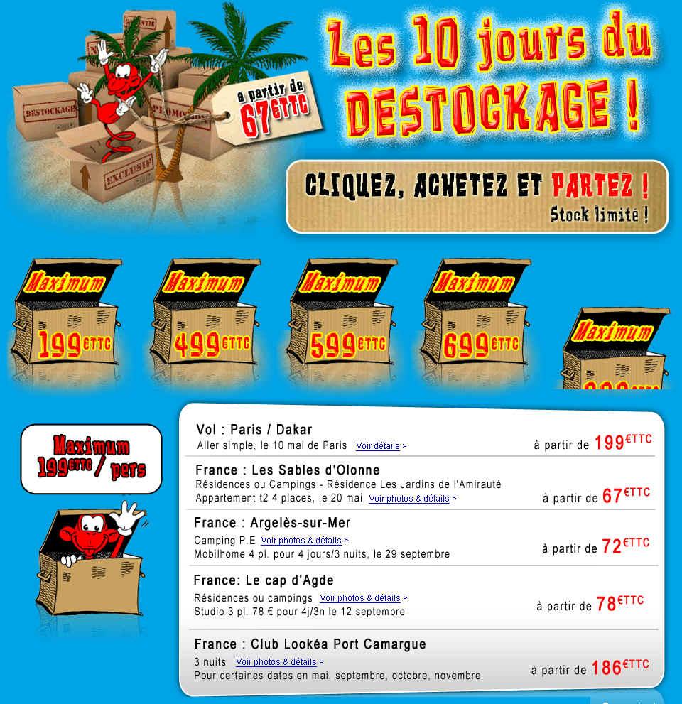Destockage Look Voyages Séjour pas Cher à partir de 67 euros TTC