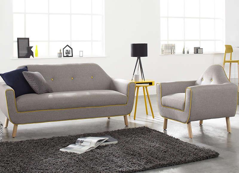 soldes canap achatdesign salon complet canap et fauteuil copenhague ventes pas. Black Bedroom Furniture Sets. Home Design Ideas