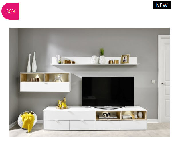meuble tv design mural volgia atylia meuble tv atylia ventes pas. Black Bedroom Furniture Sets. Home Design Ideas