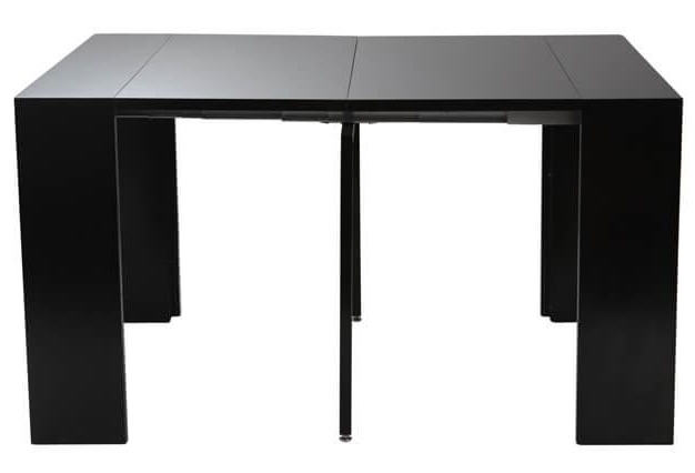 table console extensible caleb laqu e noir mat table manger miliboo ventes pas. Black Bedroom Furniture Sets. Home Design Ideas